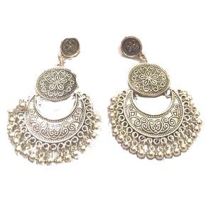 NWT Chandelier Silver Toned Exotic Earrings